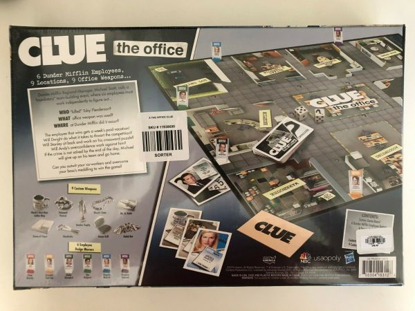 Buy The Office Edition 2019 Exclusive Clue Family Board Game New, in plastic