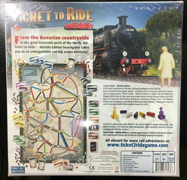 Buy Ticket To Ride Marklin Collector's Edition OOP Rare Märklin Board Game (SEALED)
