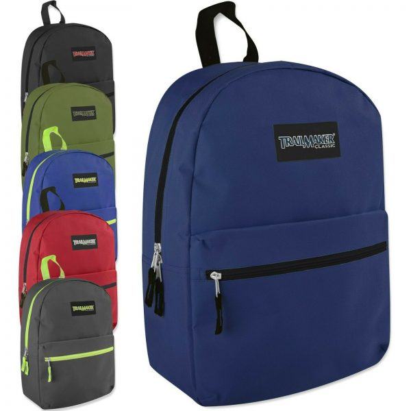 Buy Trailmaker Backpacks 17 Inch Wholesale Lot of 72 Bags