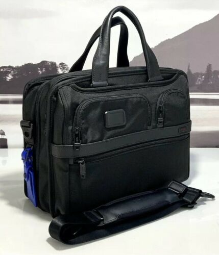 Buy Tumi Alpha 2 Expandable Organizer Laptop Brief Black Ballistic Nylon NWT $455