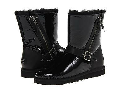 Buy UGG AUSTRALIA YOUTH KIDS GIRLS BLAISE PATENT BLACK BOOTS SIZE 4 Y NEW
