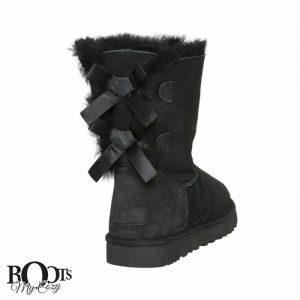 Buy UGG BAILEY BOW II BLACK SUEDE SHEEPSKIN YOUTH / TODDLER BOOTS SIZE US 11 NEW