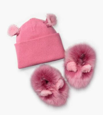 Buy UGG I Pinkipuff Gift Set Booties and Knit Hat Pink Azalea Size 4/5 (12-18months)