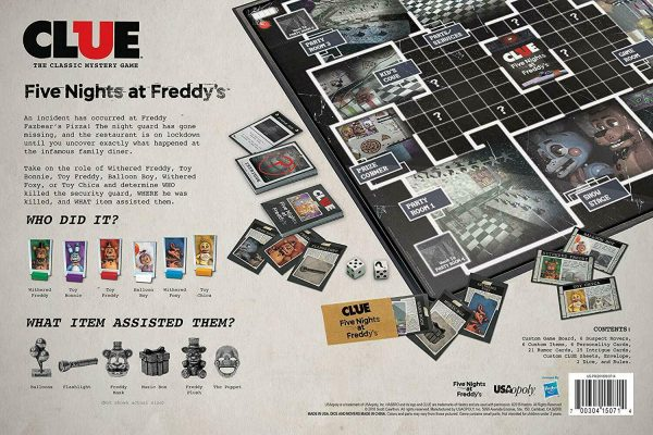 Buy USAOPOLY Clue Five Nights at Freddy's Board Game based on Five Nights NEW!