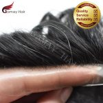 Buy Ultra Thin Skin Invisible Men Toupee Hairpiece V-Loop PU Wigs Human Hair System