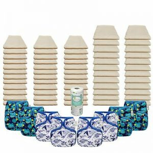 Buy Unbleached Basic Prefold Diaper Packages with OsoCozy One Sized Covers