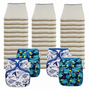 Buy Unbleached Economy Prefold Diaper Packages with OsoCozy One Sized Covers