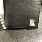 Buy VERSACE COLLECTION Men's Black Saffiano Leather Medusa Logo Bifold Wallet