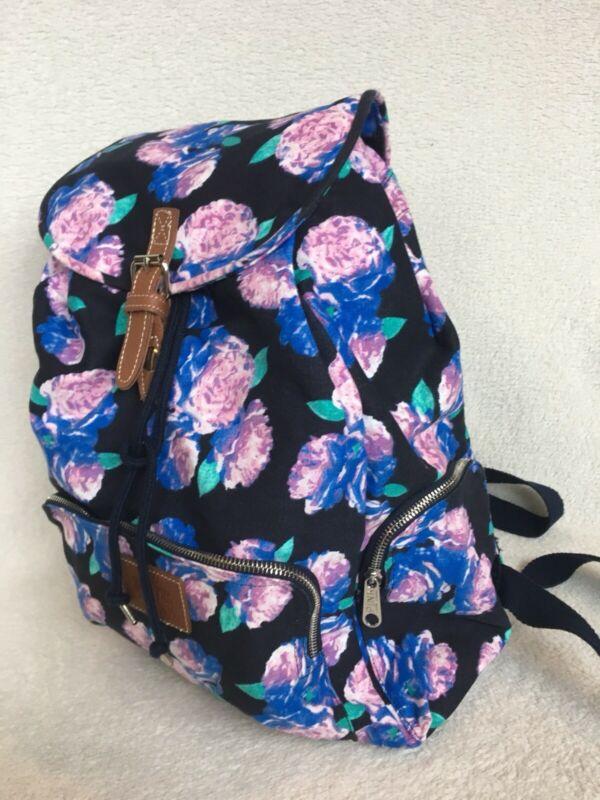Buy VICTORIA SECRET PINK Light Weight BACKPACK TOTE /GYM  BAG Floral BLUE