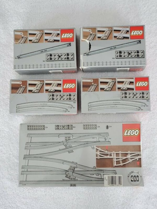 Buy VINTAGE LEGO TRAIN SYSTEM TRACK SETS - 7852 - 7850 - 7851 (LOT OF 5 SETS) NOS