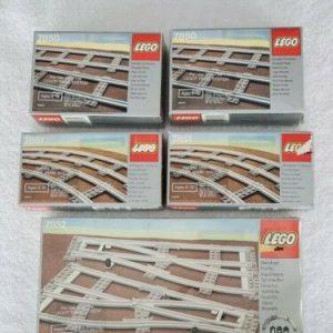 Buy VINTAGE LEGO TRAIN SYSTEM TRACK SETS - 7852 - 7850 - 7851 (LOT OF 5 SETS) NOS