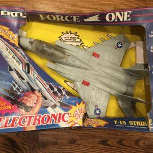 Buy VTG 1989 ERTL Force One Electronic F-15 Strike Eagle Plane Orig Packaging Box