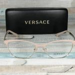 Buy Versace VE1251-1424 MATTE PINK /PALE GOLD demo lens 53 mm Women's Eyeglasses