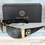 Buy Versace VE2163-100281 GOLD Polarized grey 63 mm Men's Sunglasses