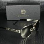 Buy Versace VE2165 12525A PALE GOLD LT BRN MIRROR DK GOLD 58 mm Women's Sunglasses