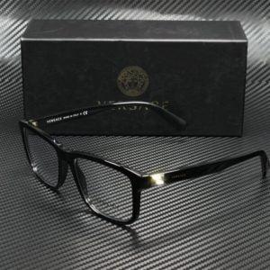 Buy Versace VE3253 GB1 BLACK DEMO LENS 55 mm Men's Eyeglasses