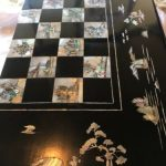 Buy Vintage antique backgammon Chinese checkers and chess board in one