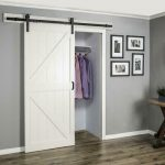 Buy WINSOON 5 Ft. 60 In. Frosted Black Sliding Barn Door Hardware Track Kit For