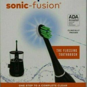 Buy Waterpik Sonic Fusion Flossing Toothbrush Black Electric Model SF-01 *NewOpened*