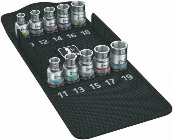 "Buy Wera 004203 Zyklop Socket Set with Holding Function 1/2"" Drive Metric"