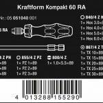 Buy Wera 051040 Kraftform Kompakt 60 RA Metric Pouch Set