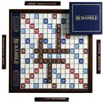 Buy Winning Solutions Scrabble Deluxe Wooden Edition with Rotating Game Board