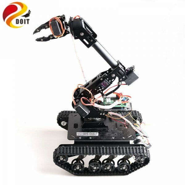 Buy Wireless Control 8dof RC Robot Arm+ Shock-Absorbing Tank Chassis DIY For Arduino