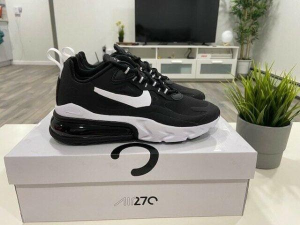 Buy Women's Nike Air Max 270 React Black White (AT6174-004) Running Shoes Multi Size