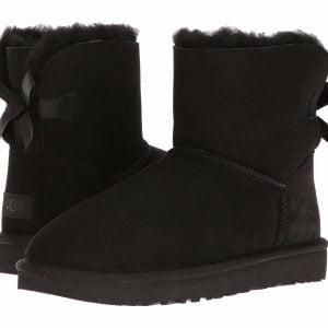 Buy Women's Shoes UGG MINI BAILEY BOW II Boots 1016501 BLACK *New*