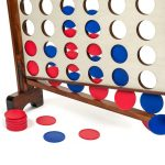 Buy Wood Giant Four Connect 4 in a Row with Carrying Case Family Lawn Yard Games