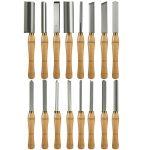 Buy Wood Lathe Chisel 16pcs Woodworking Lathe Chisel Turning Tools HSS Professional