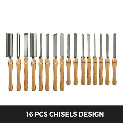 Buy Wood Lathe Chisel 16pcs Woodworking Lathe Chisel Turning Tools HSS Professional