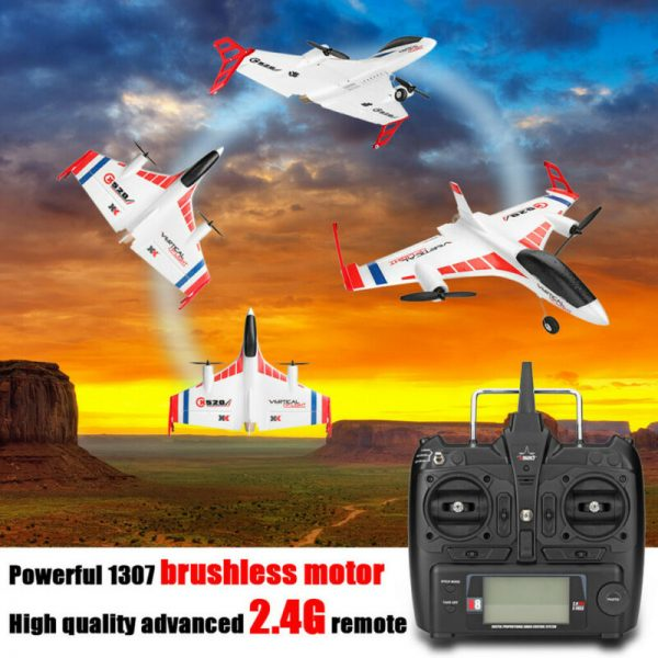 Buy XK X520 2.4G 6CH 3D/6G Motor Airplane Vertical Takeoff Land Wing RC Plane Glider