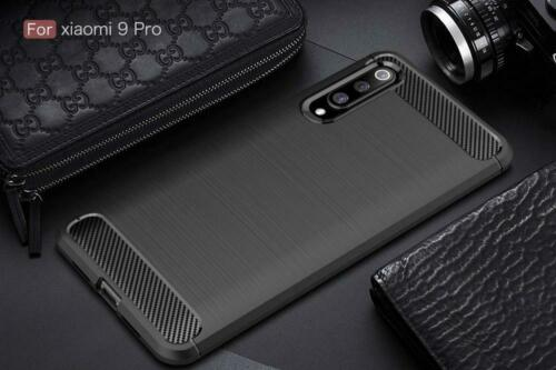Buy Xiaomi Mi 9 Pro Case TPU Bumper Soft Carbon Fiber Texture Design Cover Black