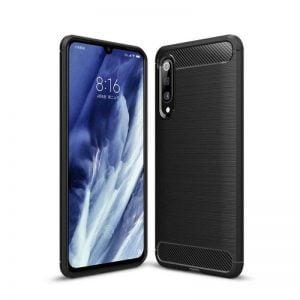 Buy Xiaomi Mi 9 Pro Case TPU Bumper Soft Carbon Fiber Texture Design Cover Black