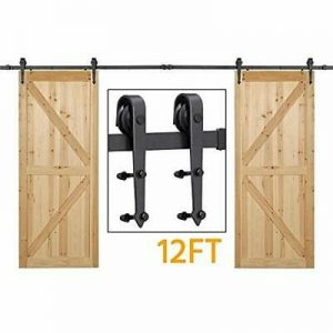 "Buy ""Yaheetech 12ft Sliding Barn Door Hardware Heavy Duty Wall Mount Closet Cabinet"