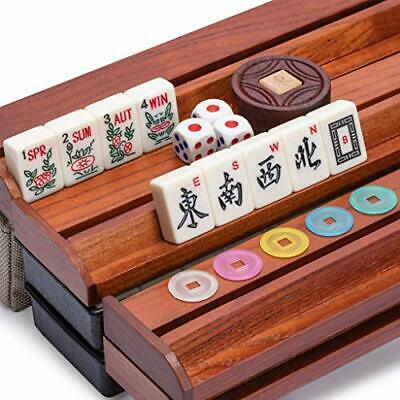 Buy Yellow Mountain Imports American Mahjong Set, Mojave (Ivory) with Brown Soft