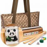 Buy Yellow Mountain Imports American Mahjong Set, Panda Tiles with Tawny Brown