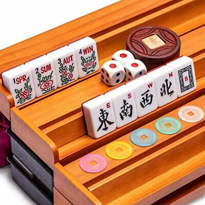 Buy Yellow Mountain Imports American Mahjong Set, Pattaya with Red Soft Case - All