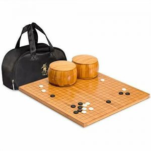 Buy Yellow Mountain Imports Go Game Set with Bamboo Go Board - 0.8 Inch Bamboo