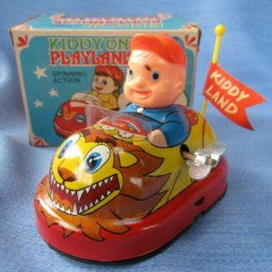 Buy Yonezawa automobile spring spinning action Vintage Tin Toy Japan