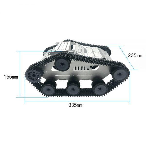 Buy ZL-TECH K2 DIY Aluminous RC Robot Car Tank Chasiss Base With DC Motors Plastic
