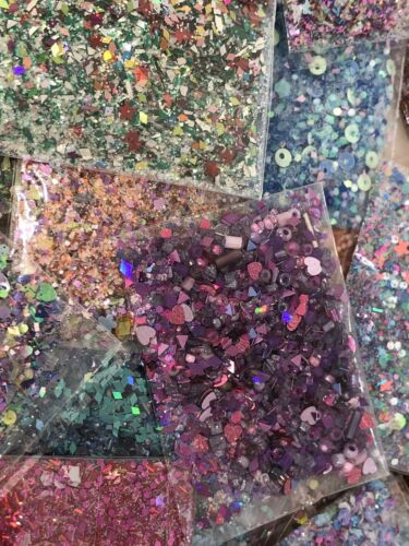 Buy glitter mixes  nail Art 100 Different Mixes For $100 SAVE OVER $200!! grab Bag