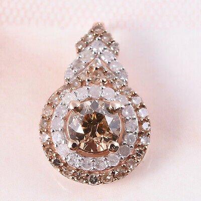 Buy 10K Rose Gold Rhodium Over White Diamond Pendant Gift Ct 0.6 H Color I3 Clarity