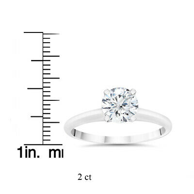 Buy 2ct Lab Created Round Diamond Solitaire Engagement Ring 14k White Gold