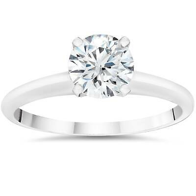Buy 3/4ct Lab Created Round Diamond Solitaire Engagement Ring 14k White Gold