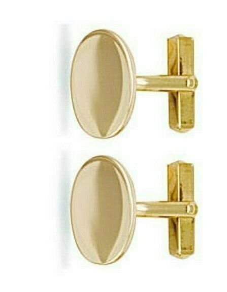 Buy 9ct Yellow Gold Oval Cufflinks Hallmarked British Made 10.5 grams