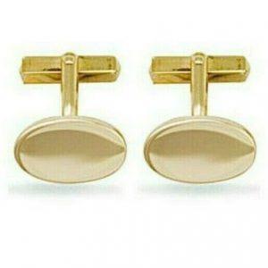 Buy 9ct Yellow Gold Oval Cufflinks Hallmarked British Made 10.5 grams