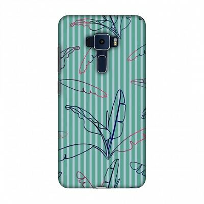 Buy AMZER Outlined Banana Leaves Blue Hard Plastic Cover Slim Printed Snap On Case