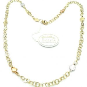 Buy Chain Yellow Gold White And Roses' 18 CT From GIOIELLERIA AMADIO